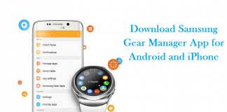 Download Samsung gear manager app