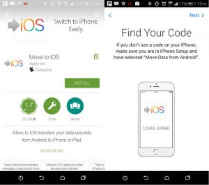 move contacts from android to iphone