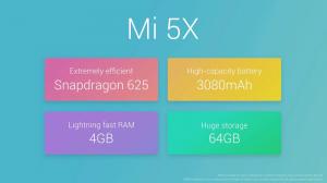 Xiaomi Mi 5X 64GB ROM 4G Phablet Price