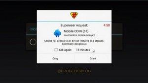 Superuser request: Grants full access to all device features and storage.Download Latest SuperSu v2.82 Flashable Zip and APKz