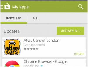 How to manually update apps in the Play Store