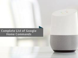 List of Google Home Commands