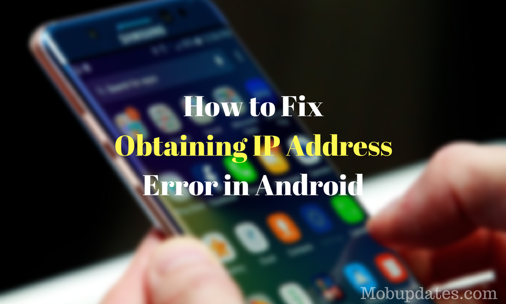 Fix Failed to Obtain IP Address