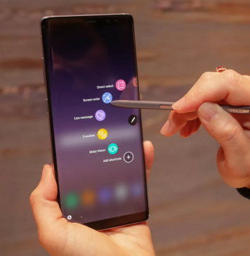 How to create a new live message on Note 8