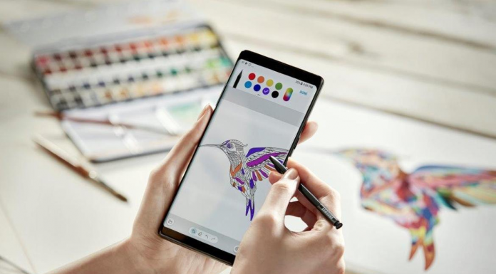 Coloring feature on Galaxy Note 8
