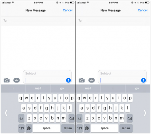 Enable and Use One-Handed Keyboard Mode on iOS 11 on iPhone