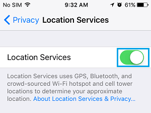 How to Enable Location Services On iPhone