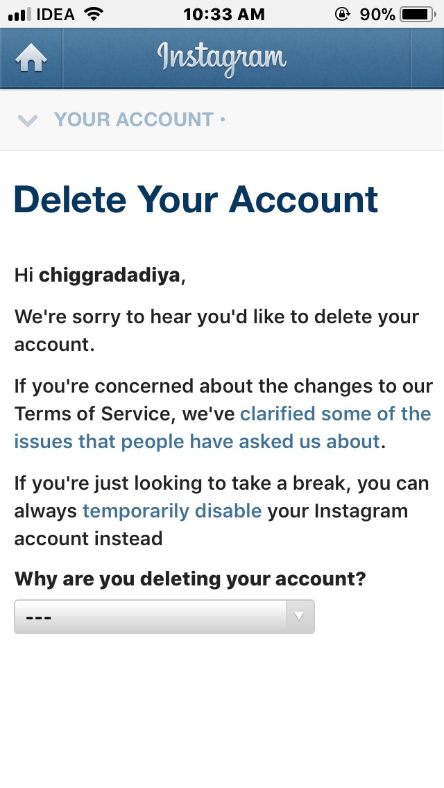 How to delete instagram account on android iphone and computer how to delete instagram account on android iphone and computer ccuart Choice Image