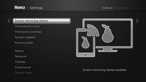 Screen mirroring Roku