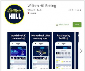 Click here to download the William Hill mobile app