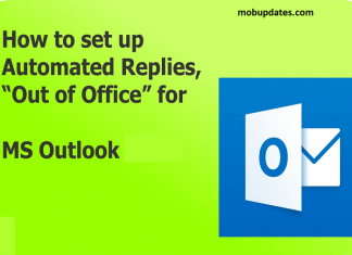 How to Set Out of Office Reply in Outlook