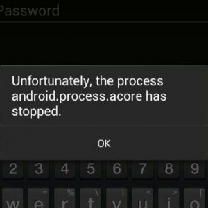 'the process android.process.acore has stopped'
