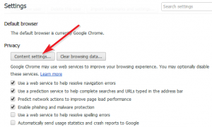 Enable or Disable JavaScript in Google Chrome