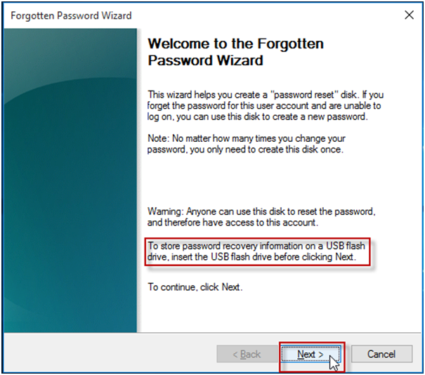 Reset HP Laptop Password with Password Reset Disk
