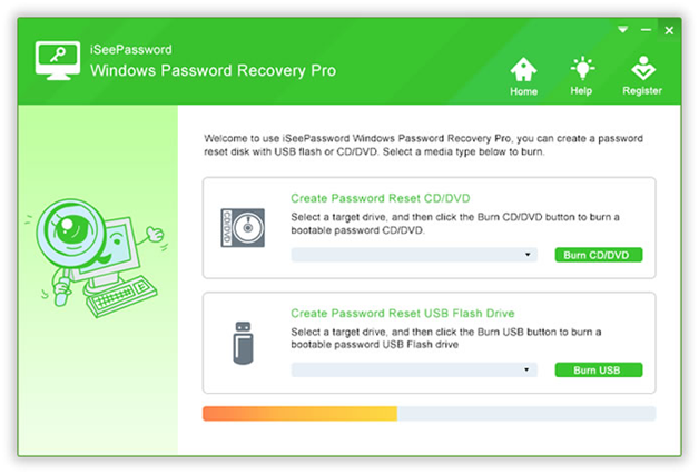 Method #2: Reset HP Laptop Password with iSeePassword Windows Password Recovery Pro Utility