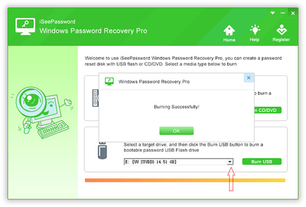 Reset HP Laptop Password with iSeePassword Windows Password Recovery Pro Utility
