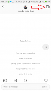 Video Chat on Instagram on Phone