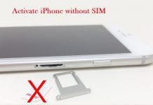 How to activate and use an iPhone without a SIM: Activation iOS 9_10_iOS11 iPhone 6s, 6s+ 6 Plus, 5s, 5c, 5, 4s