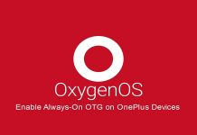 Enable Always-on OTG on OnePlus 6/5T/5/3T/3