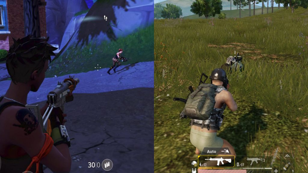 PUBG vs. Fortnite Shooting