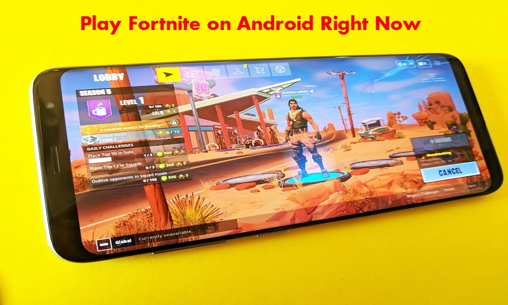 how to download and play fortnite on android devices - fortnite android beta qr code