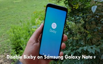 Disable Bixby on Samsung Galaxy Note 9