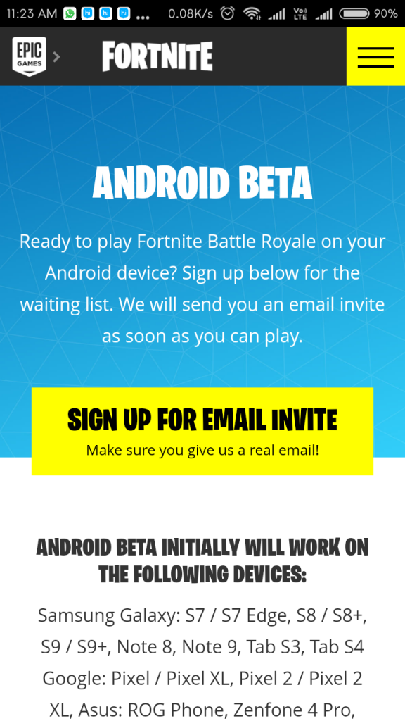 Play Fortnite Mobile on Android