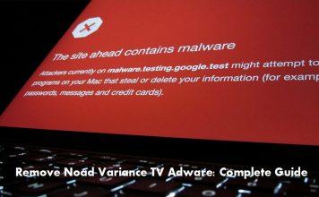 Remove Noad Variance TV Adware