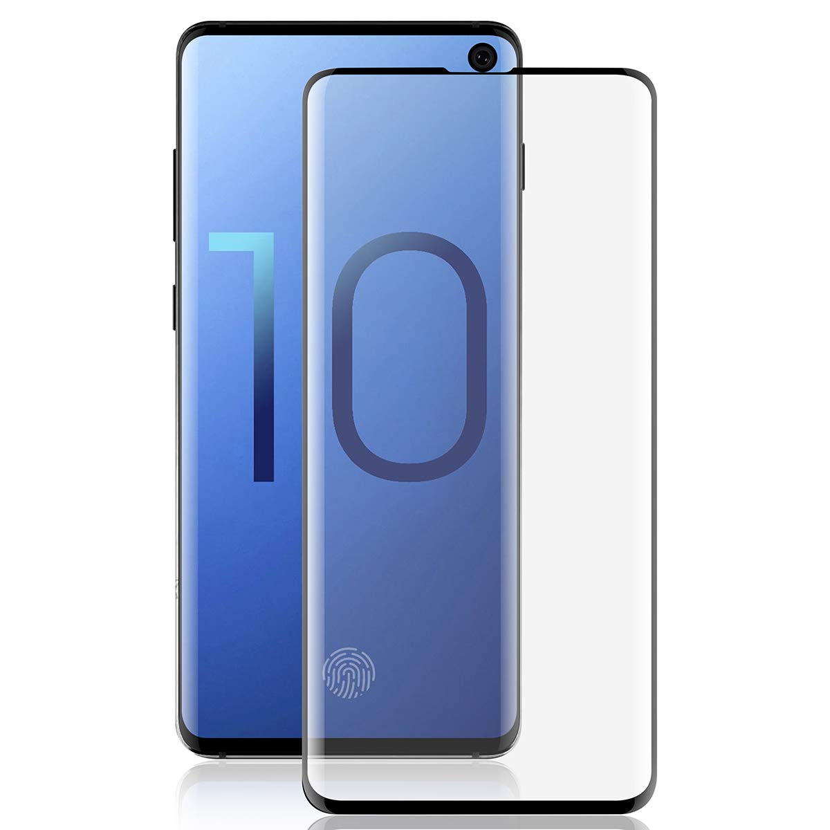 Anti Fingerprint Tempered Glass Screen Cover for Galaxy S10