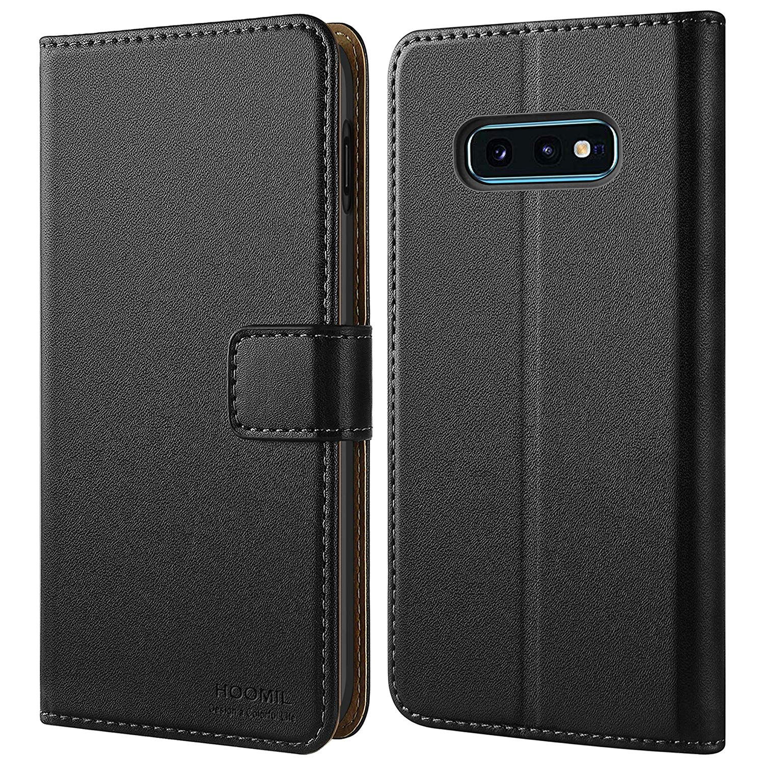 Leather flip case for Galaxy S10E by HOOMIL