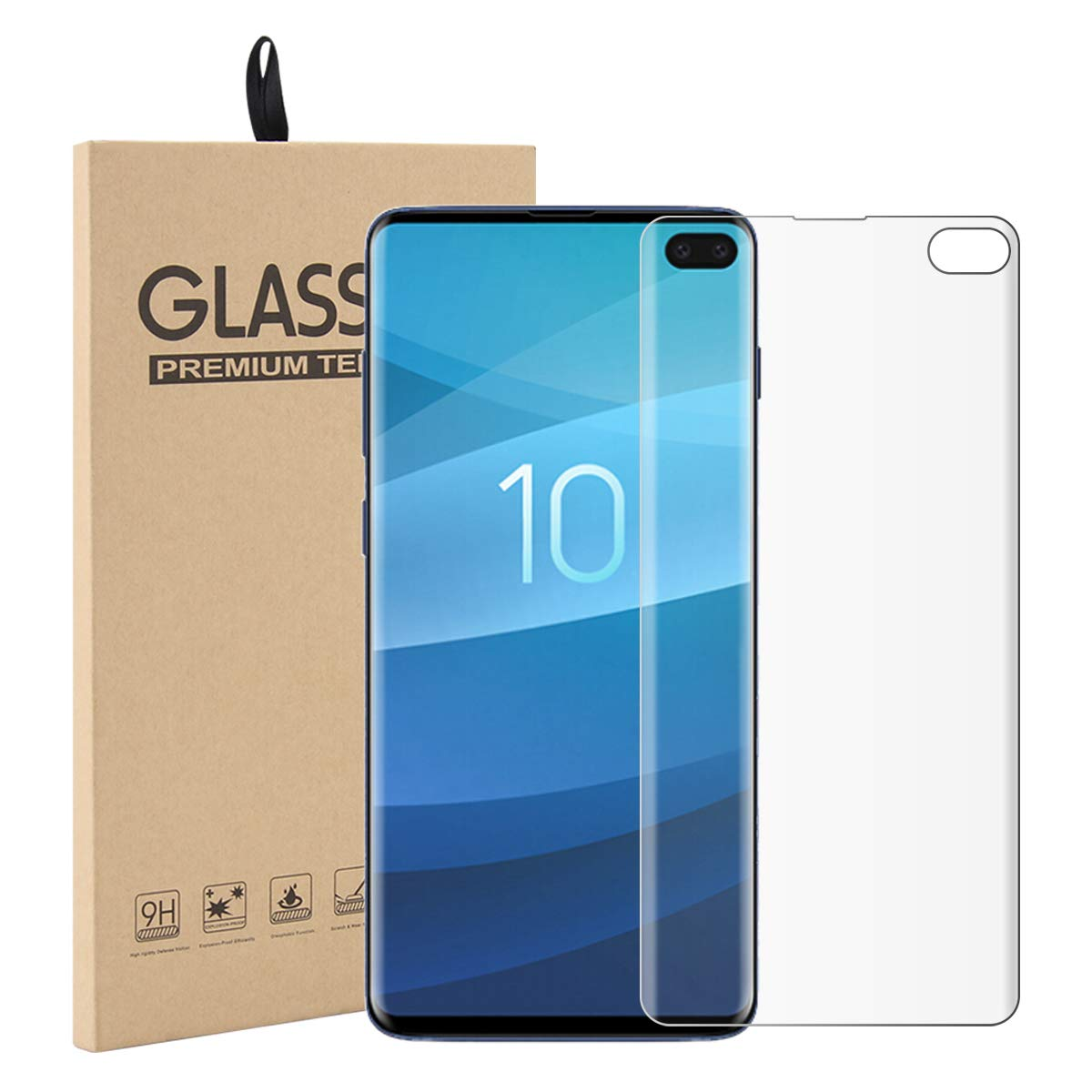 tempered glass screen protector for Galaxy S10+