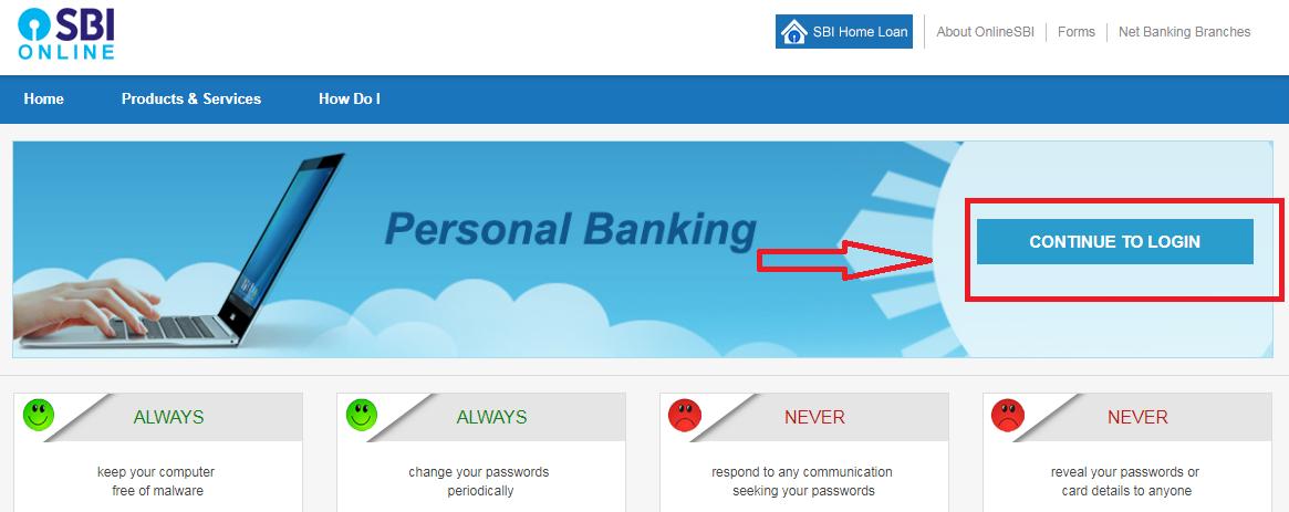 sbh net banking