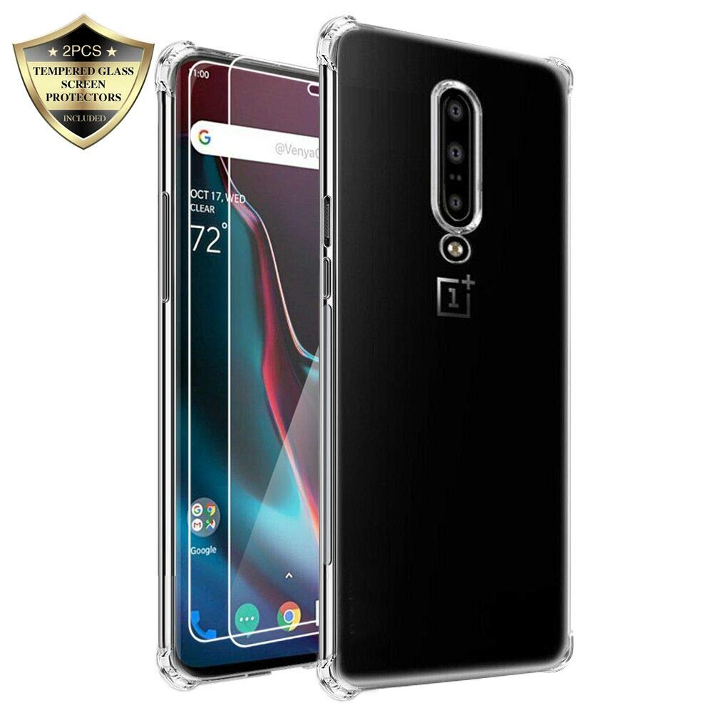 Androgate Clear Transparent Slim Soft TPU Cover Bumper Case OnePlus 7 Pro