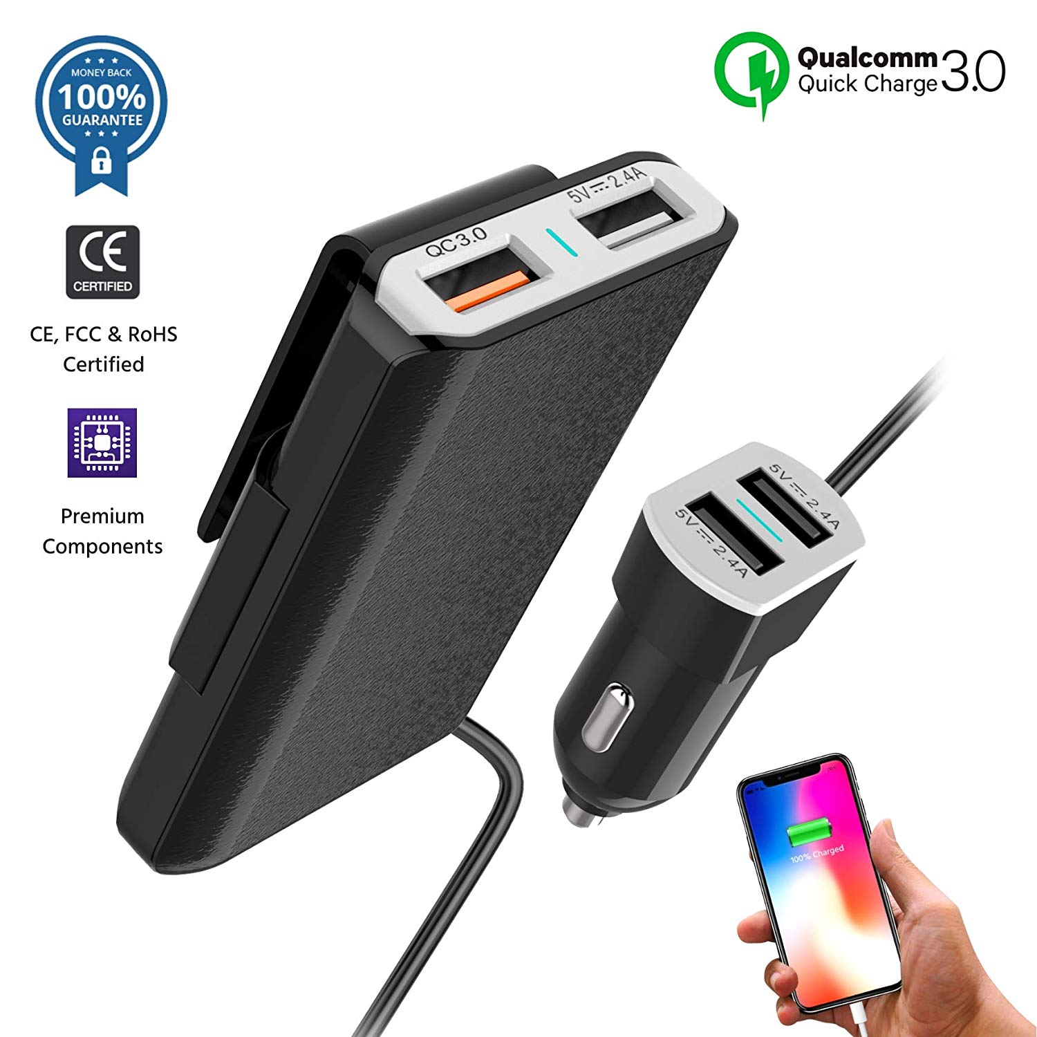 Car Charger Adapter for OnePlus 7 Pro