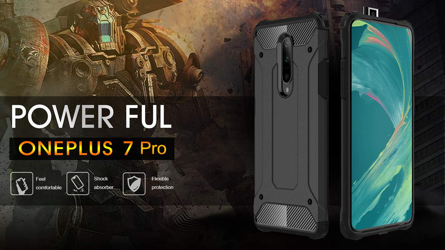 Dual Layer Cases Hard for OnePlus 7 Pro