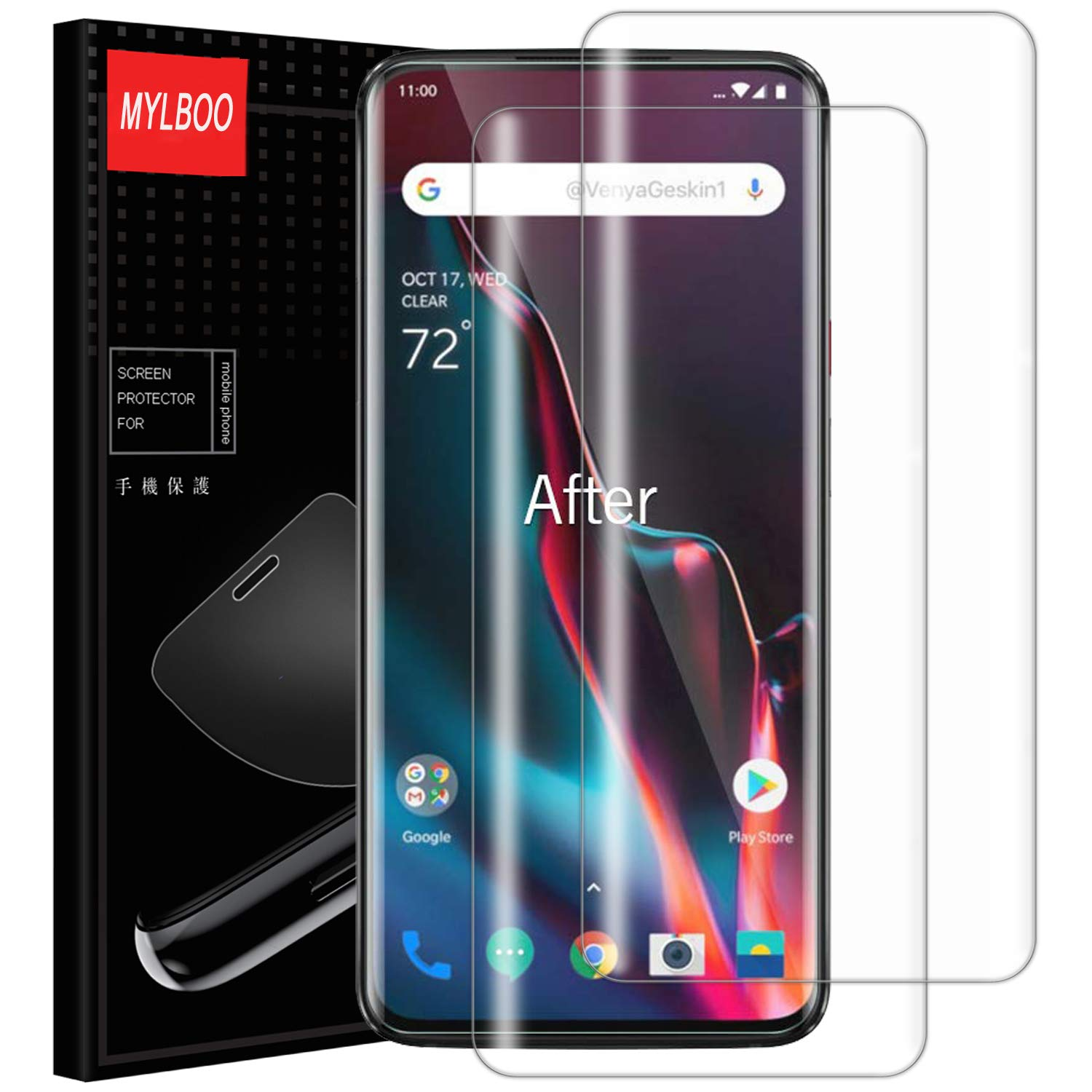 Mylboo Screen Protector for Oneplus 7 Pro