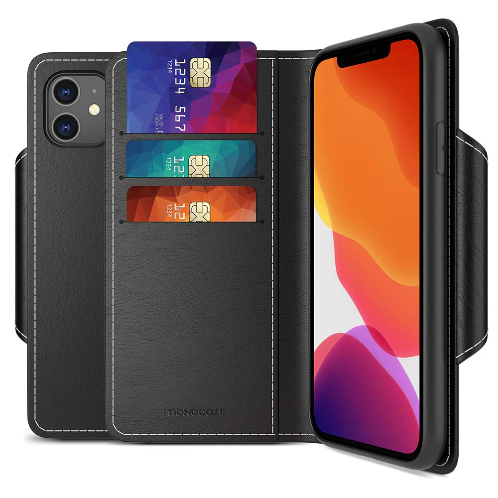 Maxboost Leather Wallet Case iPhone 11