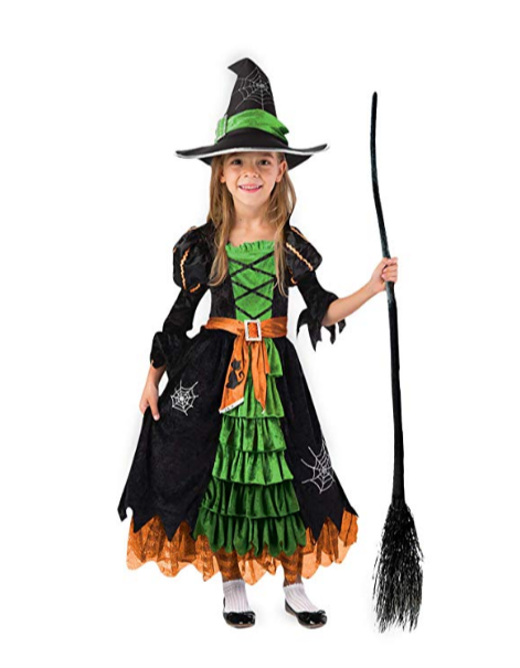 Fairytale Green Cute Witch Dress Halloween Costume