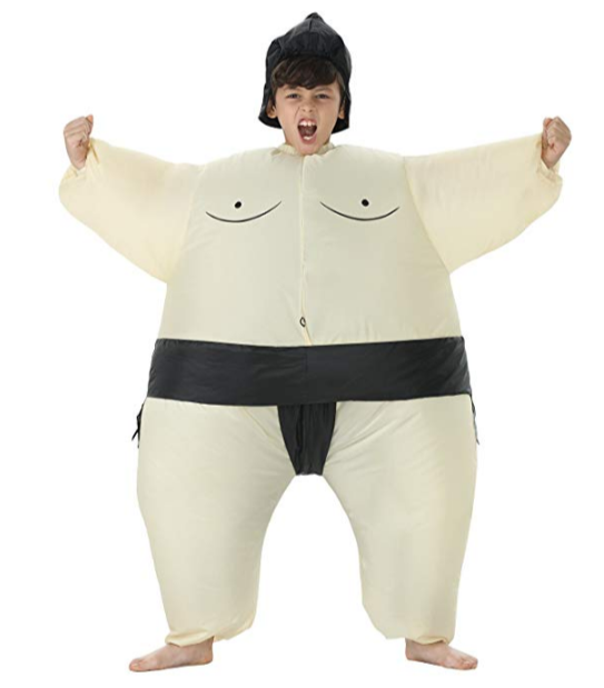 Inflatable Kids Sumo Wrestler Halloween Boy Costume