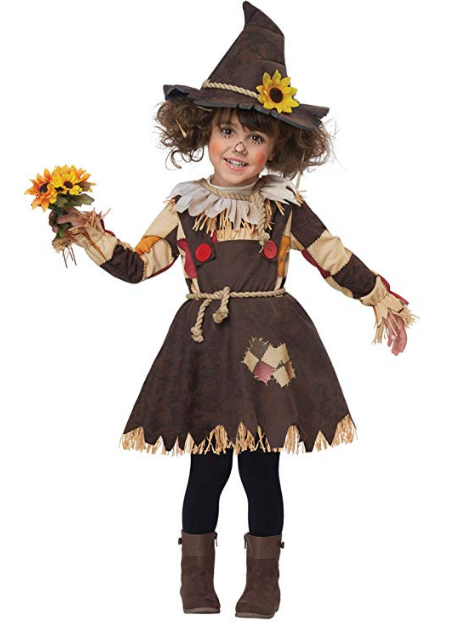 Pumpkin Patch Scarecrow Halloween Child Costume
