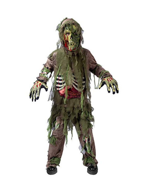 Skeleton Living Dead Swamp Zombie Halloween Costume