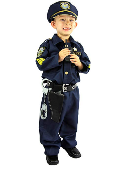 Spooktacular Police Officer Halloween Boy Costume