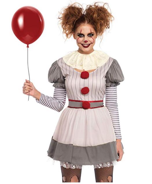 Women's Creepy Clown Halloween Costume