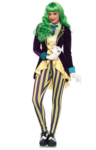 Women's Evil Trickster Villain Costume