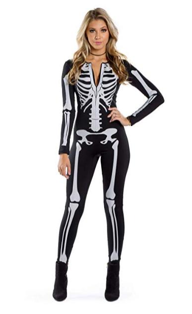 Women's Skeleton Halloween Costume Bodysuit