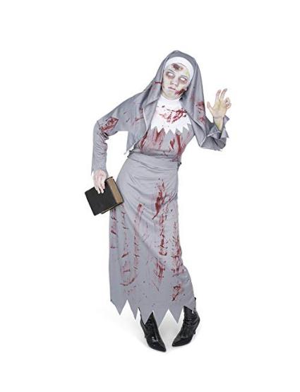 Women's Zombie Nun Costume Set Perfect for Halloween