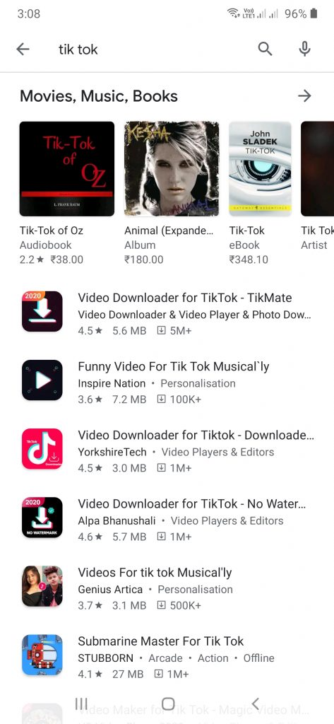 No tiktok google play store