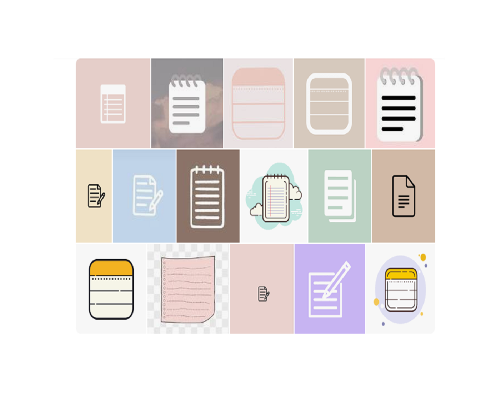 Aesthetic Notes Icons
