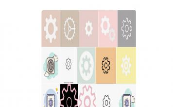 settings icon aesthetic